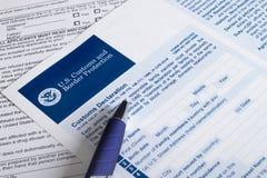 Aduanas de los E.E.U.U. y protección de la frontera Imagen de archivo libre de regalías