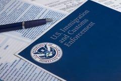 Aduanas de los E.E.U.U. y protección de la frontera Imagen de archivo