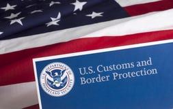 Aduanas de los E.E.U.U. y protección de la frontera Fotografía de archivo libre de regalías