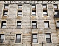 Aduanas de piedra viejo en Boston Imágenes de archivo libres de regalías