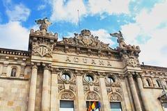 Aduanas del edificio en el puerto de Barcelona Imagenes de archivo