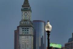 Aduanas del ` s de Boston debajo de los cielos siniestros Fotografía de archivo libre de regalías