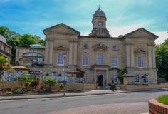 Aduanas, edificio histórico en la bahía de Cardiff Fotos de archivo libres de regalías