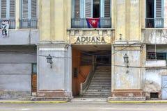 Aduanas - La Habana, Cuba Imágenes de archivo libres de regalías
