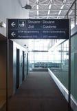 Aduanas modernas del aeropuerto Foto de archivo
