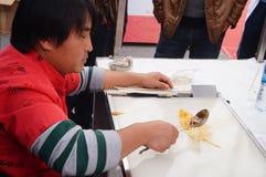 Aduanas populares chinas: pintura del jarabe Fotografía de archivo libre de regalías