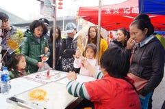 Aduanas populares chinas: pintura del jarabe Foto de archivo libre de regalías