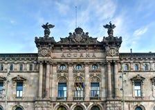 Aduanas que construyen - Barcelona, España Imágenes de archivo libres de regalías