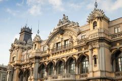 Aduanas que construyen en el puerto de Barcelona, fachada Fotos de archivo