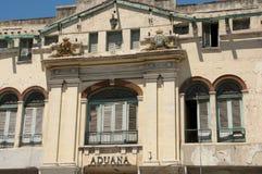 Aduanas que construyen - La Habana - Cuba Imagen de archivo libre de regalías