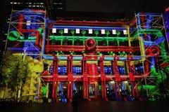 Aduanas Sydney durante Sydney viva Imagen de archivo libre de regalías