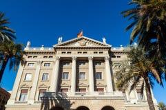 Aduanas viejo, Barcelona, España Imágenes de archivo libres de regalías