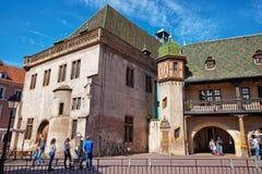 Aduanas viejo en Colmar en Alsacia Francia Fotos de archivo libres de regalías