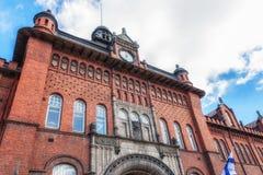 Aduanas y almacén en el puerto de Helsinki Foto de archivo