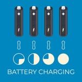 Ładuje status bateryjny element dla infographic ilustracji