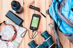 Ładuje telefon komórkowy aktywny Zdjęcie Stock