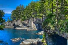 Adulación del cabo en Washington Coast del norte Fotos de archivo libres de regalías