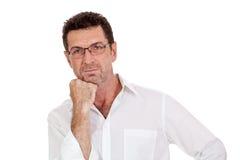 Aduld-Geschäftsmann mit Problem lokalisiert Lizenzfreies Stockfoto