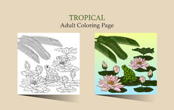 Adult antistress coloring page. Royalty Free Stock Photography