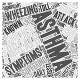 Adult asthma symptoms word cloud concept Stock Image