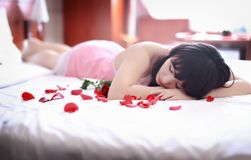 Adult, Attractive, Bed Stock Image