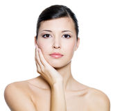 Adult beautiful woman with fresh clean skin Stock Photo