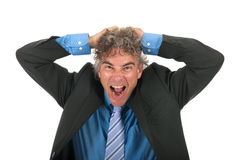 Adult business man with stress Royalty Free Stock Photo