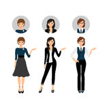 Adult business women set Royalty Free Stock Photography