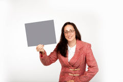 Adult Businesswoman isolated on white background Stock Photography