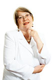 Adult businesswoman over white background Stock Photos