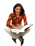 Adult businesswoman smiling Royalty Free Stock Photo