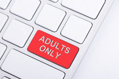Adult only button Royalty Free Stock Photos