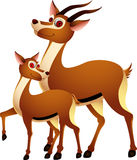 Adult cartoons funny deer Royalty Free Stock Photography