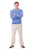 Adult caucasian man in casual outfit isolated Royalty Free Stock Photo