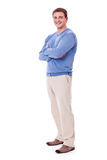 Adult caucasian man in casual outfit isolated Stock Photos