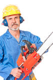 Adult caucasian sawyer Stock Image