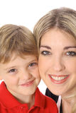 Adult and child headshot vertical Stock Photography