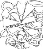 Adult coloring book Stock Image