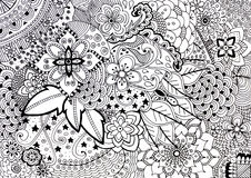 Adult coloring book hand drawn illustration Stock Photo