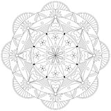 Adult Coloring Book Mandala Shape - vector eps 10. Hobby, relaxation Royalty Free Stock Images