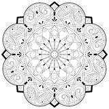 Adult Coloring Book Mandala Shape - vector eps 10. Hobby, relaxation Stock Images