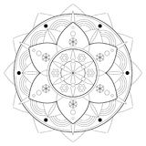 Adult Coloring Book Mandala Shape - vector eps 10. Hobby, relaxation Royalty Free Stock Image
