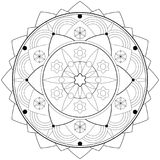 Adult Coloring Book Mandala Shape - vector eps 10. Hobby, relaxation Stock Photo