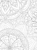 Adult coloring book,page an abstract floral background image for relaxing.Zen art style illustration royalty free stock photography