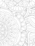 Adult coloring book,page an abstract floral background image for relaxing.Zen art style illustration stock photo