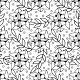Adult coloring book page design with floral seamless pattern Stock Photo