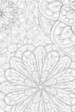 Adult coloring book,page a floral abstract background image for relaxing.Zen art style illustration. A cute floral abstract background image on the background vector illustration