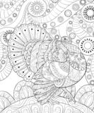Adult coloring book,page a Thanksgiving Day theme illustration for relaxing.