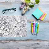 Adult coloring books, mindfulness concept Stock Image