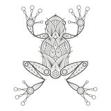 Adult coloring. Frog. Royalty Free Stock Images